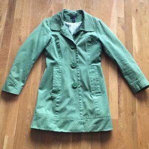 H&M Green Spring Coat